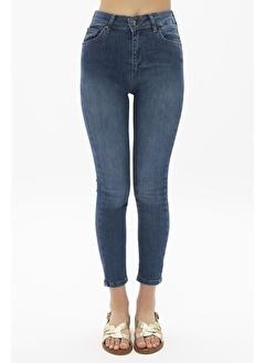 Female Project Lacivert Yüksek Bel Skinny Jeans